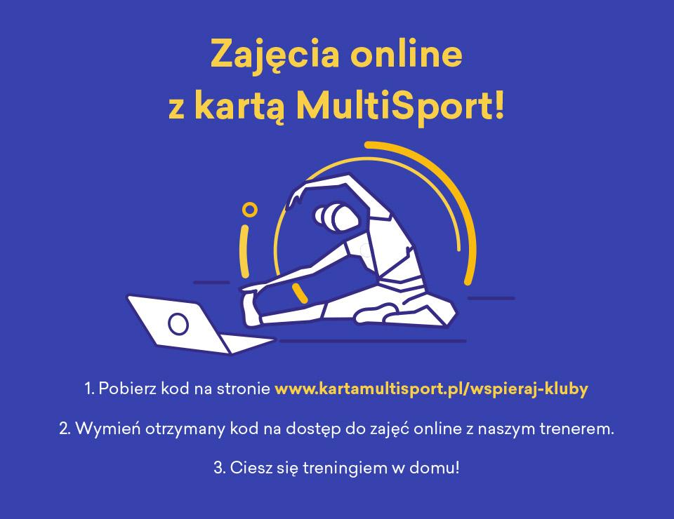 Już wkrótce zajęcia online z kartą Multisport!